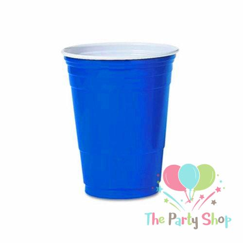 Blue Solo Cup Cold Plastic Party Cups 16 Ounce (20 Pack) ORIGINAL Beer Pong Beer Cups Party Cups Fun Party Drinking Games