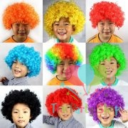 Afro Wig for Women & Men Curly Hair Costume Wigs Disco Afro Wig Halloween Cosplay Party Wigs World Cup Festival World Cup Competition Cheerleaders Football Cricket Fan Wigs