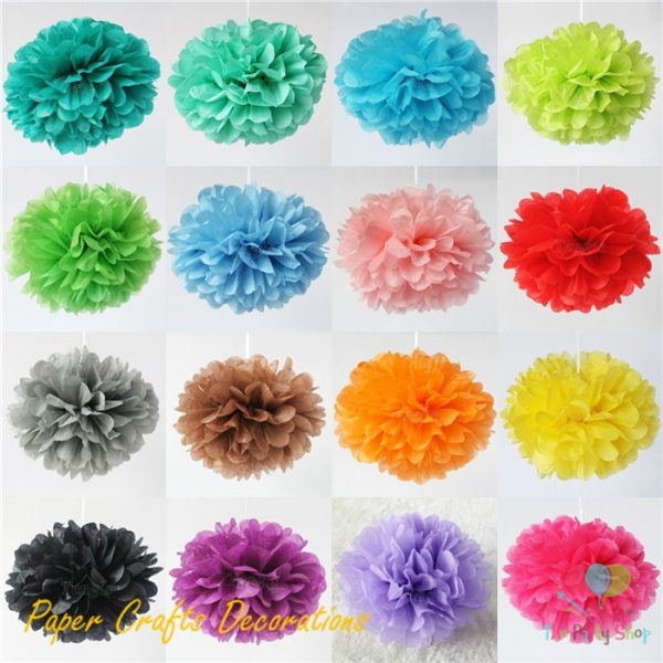 12 Inch 2 Pcs Pom Pom Tissue Paper Pompom Flower Ball Decorations
