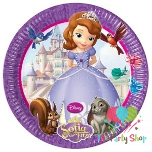 8 Paper Plates 19.5cm Sofia The First