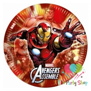 Marvel Avengers Assemble Multi Heroes Paper Large Party Dinner Plates 8 Pack