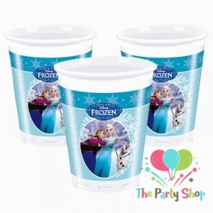 8 Plastic Cups 200ml Frozen Ice Skating