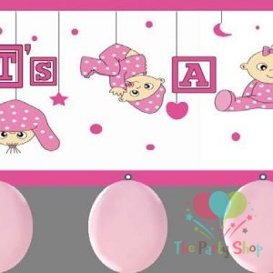 Its A Girl Balloon Banner