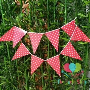 Polka Dot Bunting Red
