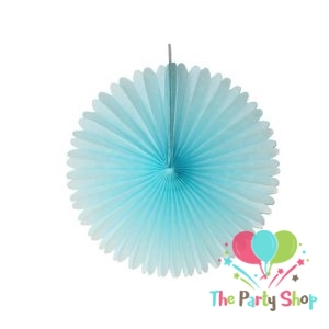 Paper Fan Decor 5 Pc Blue (light )