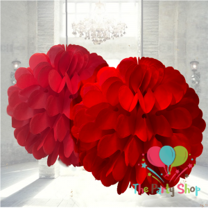 Red Tissue Paper Pom Poms Flower Decorations Ball Artificial Hanging Wedding Flowers Party Ceiling Decorations Ball, Pom Pom Party Balls