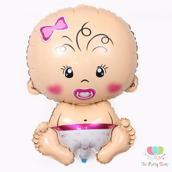 Baby Girl Foil Balloon Large Super Shape