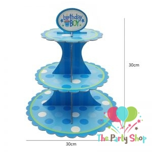3-tier Cupcake Stand Multi Design Birthday Party Supplies Kids Baby Shower Favors Cupcakes Decoration Set