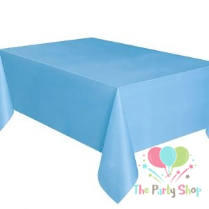 Plain Blue Plastic Table Cover