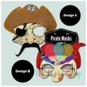 Pirate Foam Mask Children Kid Halloween Party Prop Novelty