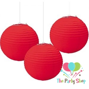 10 Inch Red Paper Lanterns Chinese/Japanese Paper Hanging Decorations Ball Lanterns Lamps for Home Decor, Festival and Weddings
