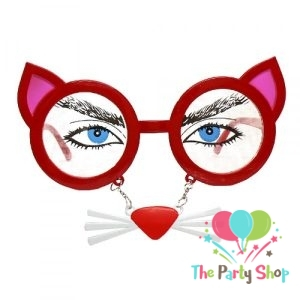Cat Costume Mask Novelty Glasses Halloween Party Photo-booth Props Favors Accessories Party Supplies Decoration Gifts
