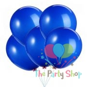 """10"""" Standard Dark Blue Solid Color Latex Balloons Birthday Party Balloons Wedding Decoration (25 Piece)"""