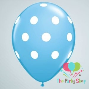 11″ Polka Dot Sky Blue Light Blue Latex Balloons Birthday Party Balloons Wedding Decoration (100 Piece)