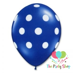 11″ Polka Dot Dark Blue Deep Blue Latex Balloons Birthday Party Balloons Wedding Decoration (100 Piece)