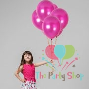 "10"" Pearl Glossy Pink Latex Balloons Birthday Party Festivals Balloons Wedding Decoration (25 Piece)"