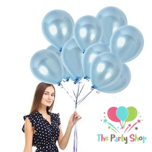 10″ Pearl Glossy Shiny Light Blue Latex Balloons Birthday Party Festivals Balloons Wedding Decoration (50 Piece)