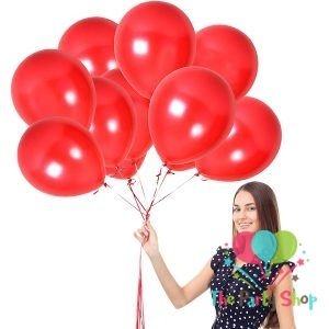 10″ Pearl Glossy Shiny Red Latex Balloons Birthday Party Festivals Balloons Wedding Decoration (10 Piece)