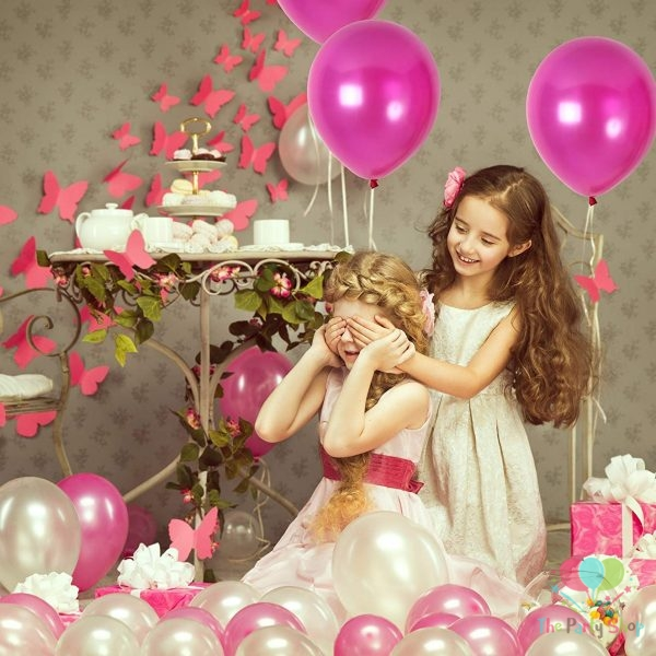 """10"""" Pearl Glossy Pink Latex Balloons Birthday Party Festivals Balloons Wedding Decoration (25 Piece)"""
