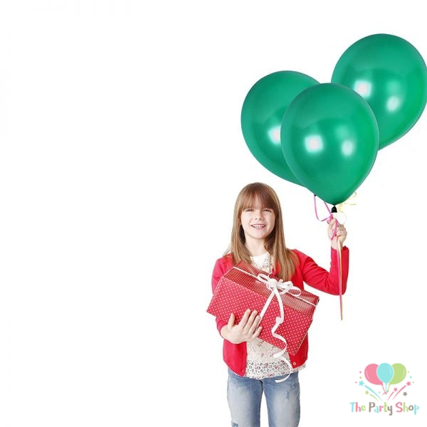 "10"" Pearl Glossy Green Latex Balloons Birthday Party Festivals Balloons Wedding Decoration (25 Piece)"