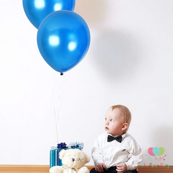 "10"" Pearl Glossy Dark Blue Latex Balloons Birthday Party Festivals Balloons Wedding Decoration (25 Piece)"