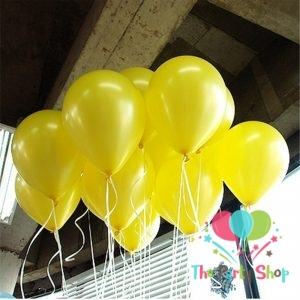 10″ Pearl Glossy Shiny Yellow Latex Balloons Birthday Party Festivals Balloons Wedding Decoration (50 Piece)