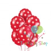 "11"" Polka Dot Red Latex Balloons Birthday Party Balloons Wedding Valentines Christmas Decoration (25 Piece)"