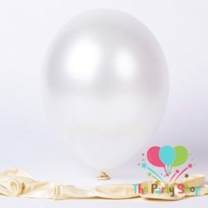 10″ Pearl Glossy Shiny White Latex Balloons Birthday Party Festivals Balloons Wedding Decoration (50 Piece)