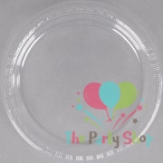 6 Inch Clear Plastic Disposable Circular Plates Food Tray 20/Pack