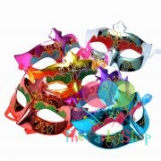 Party Masquerade Ball Mask Premium Halloween Mask Mardi Gras Eye Mask Glitter Multi-Color
