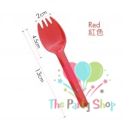 Dessert Cake Spork Spoon Red 20 Pcs Pkt