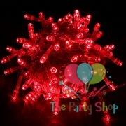 Red String Fairy Lights Christmas Xmas Garland Decoration Wedding Festival Party Twinkle Lamp Strip 100 LED