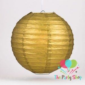 10 Inch Golden Paper Lanterns Chinese/Japanese Paper Hanging Decorations Ball Lanterns Lamps for Home Decor, Festival and Weddings