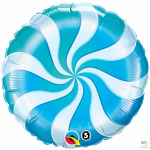 18 Inch Blue Candy Swirl Windmill Point Foil Balloons Round Lollipop Aluminum Balls Wedding Happy Birthday Baby Kids Party Decoration