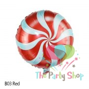 Round Candy Swirl Lollipops Foil Balloons Birthday Party Windmill Decoration