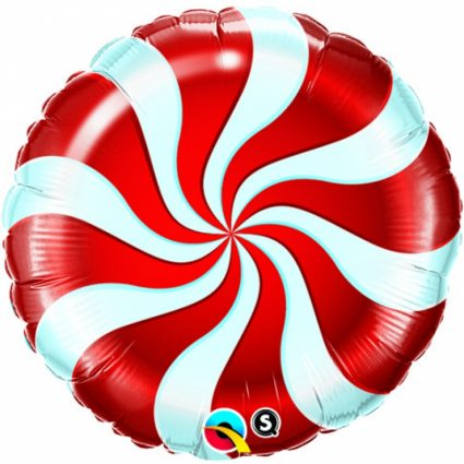 18 Inch Red Candy Swirl Windmill Point Foil Balloons Round Lollipop Aluminum Balls Wedding Happy Birthday Baby Kids Party Decoration (3)