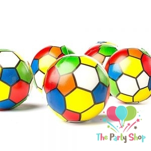 Multi Color Football Soccer Ball Squeeze Anti Stress Soft Balls Fun Kids Toys 3 Inch Christmas Stocking Party Favor Goodie Bag Gifts (Pack of 6)