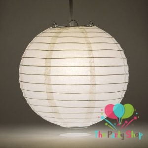 White Paper Lanterns 10 Inch Chinese/Japanese Paper Hanging Decorations Ball Lanterns Lamps for Home Decor, Festival and Weddings