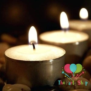 Tealight Candles Romantic Love Wedding Party Round Shaped Candles Home Decor Wax Candles Tea light Candles (Set of 10)