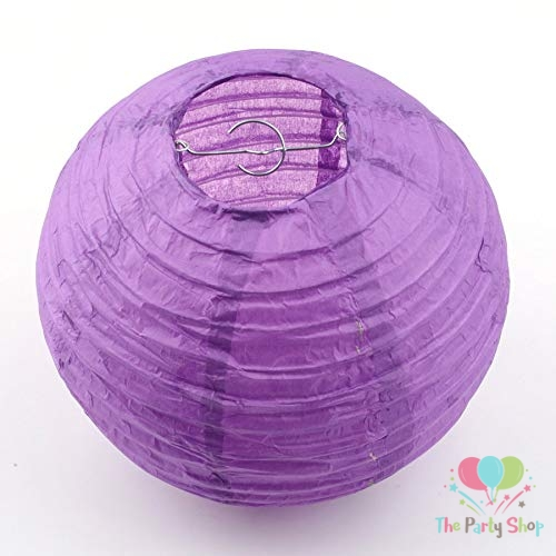 Lanterns 10 Inch Purple Paper Chinese/Japanese Paper Hanging Decorations Ball Lanterns Lamps for Home Decor, Festival and Weddings