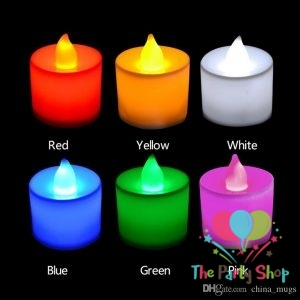 LED Tea Light Candles TeaLight Lamp Realistic Battery Powered Flameless 6 Colors Flicker Candles Wedding Love Valentines Birthday Decorations