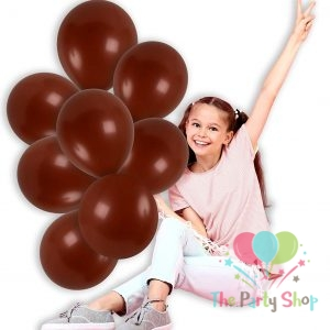 11″ Chocolate Brown Solid Thick Latex Balloons Birthday Party Festivals Balloons Wedding Decoration (100 Piece)