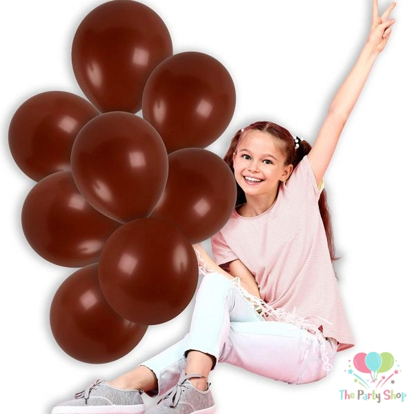 """11"""" Chocolate Brown Solid Thick Latex Balloons Birthday Party Festivals Balloons Wedding Decoration"""