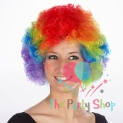 Multi Coloured Colorful Afro Wig Curly Artificial Fake Hair Afro Wigs Rainbow Halloween Cosplay Party Wigs World Cup Festival World Cup Competition Cheerleaders Football Cricket Fan Wig