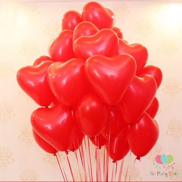 "10"" Red Love Heart Shape Latex Balloons Wedding Party Decor Globos Romantic Valentine's Day Anniversary Love Birthday Balloons (100 Piece)"