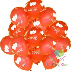 10″ Love and Heart Printed Latex Balloons for Valentines Day Wedding Anniversary Birthday Decorations Assorted Color (10 Piece)