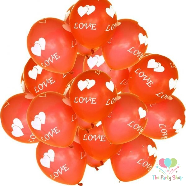 """10"""" Love and Heart Printed Latex Balloons for Valentines Day Wedding Anniversary Birthday Decorations Assorted Color (10 Piece)"""