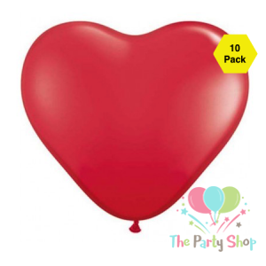 10″ Red Heart Shape Latex Balloons Wedding Party Decor Globos Romantic Valentine's Day Anniversary Love Birthday Balloons (10 Piece)
