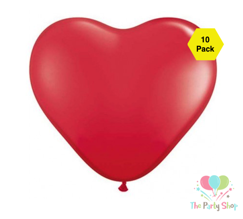 "10"" Red Love Heart Shape Latex Balloons Wedding Party Decor Globos Romantic Valentine's Day Anniversary Love Birthday Balloons (10 Piece)"