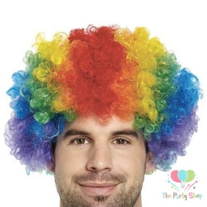 Multi Coloured Colorful Afro Wig for Women & Men Curly Hair Wigs Cricket World Cup 2019 Srilanka Cricket Supporters Fan Malinga Wigs Artificial Hair